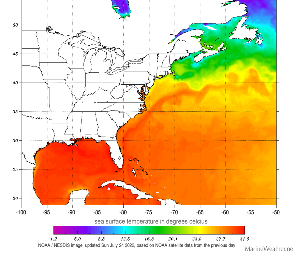 sea temperatures