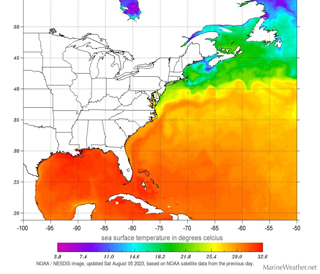 sea temperatures